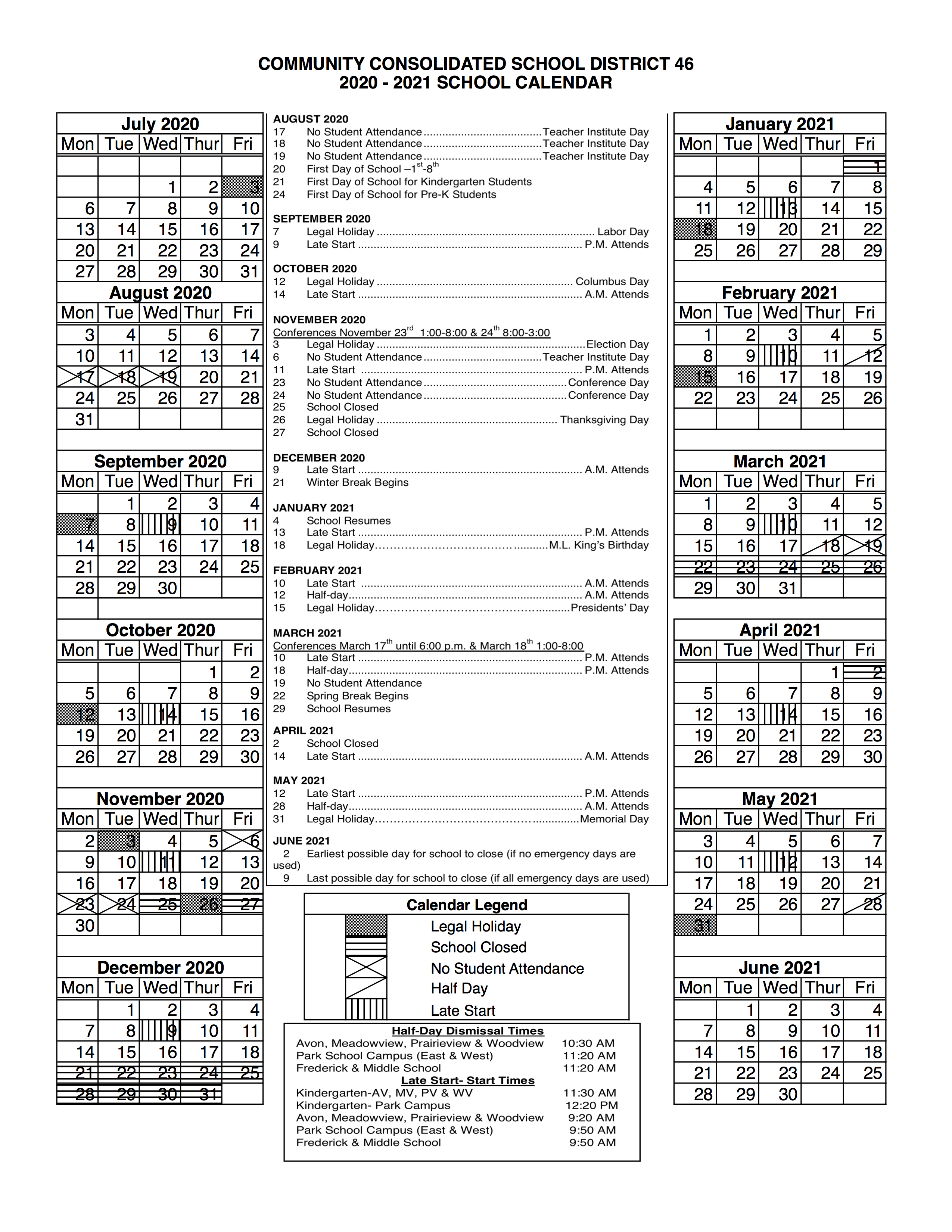 Ccsd Calendar 2022.Ccsd 46 District Calendar